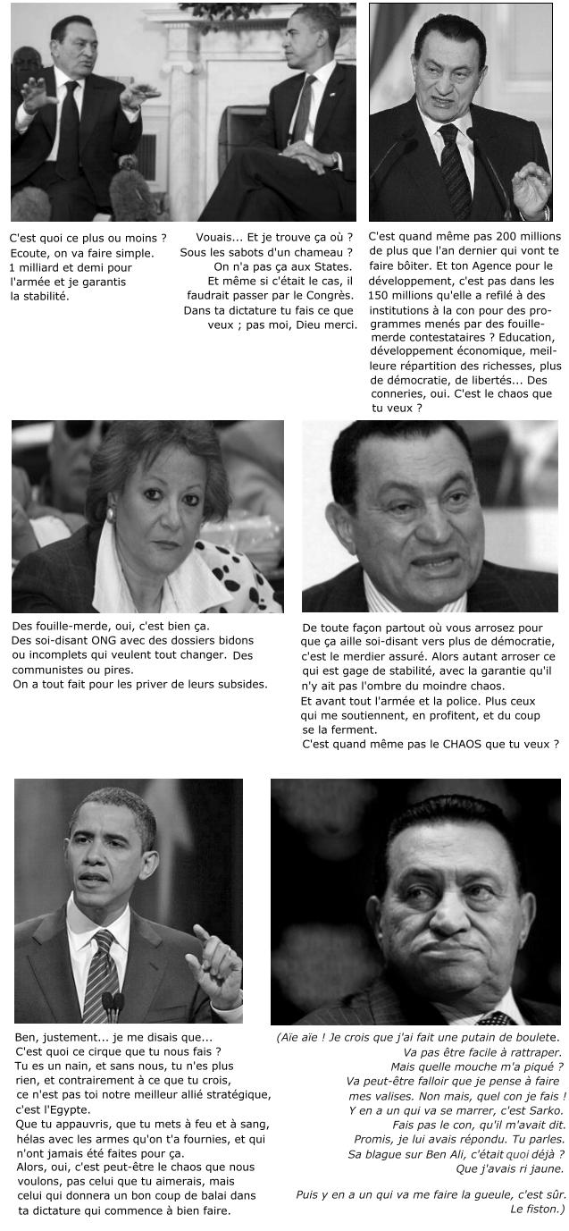 egypte moubarak obama stratégie