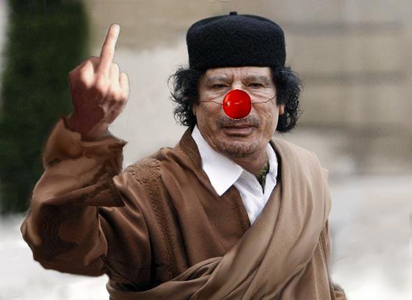 La colere de Kadhafi